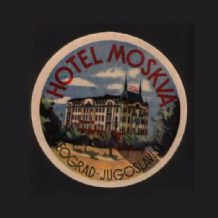 Collectable RARE Hotel luggage label Yugoslavia  #311